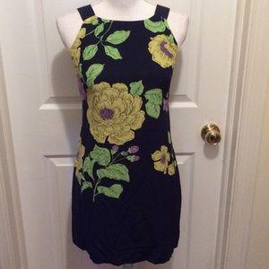 Beth Bowley Dress 2 Dark Blue Yellow Green Floral